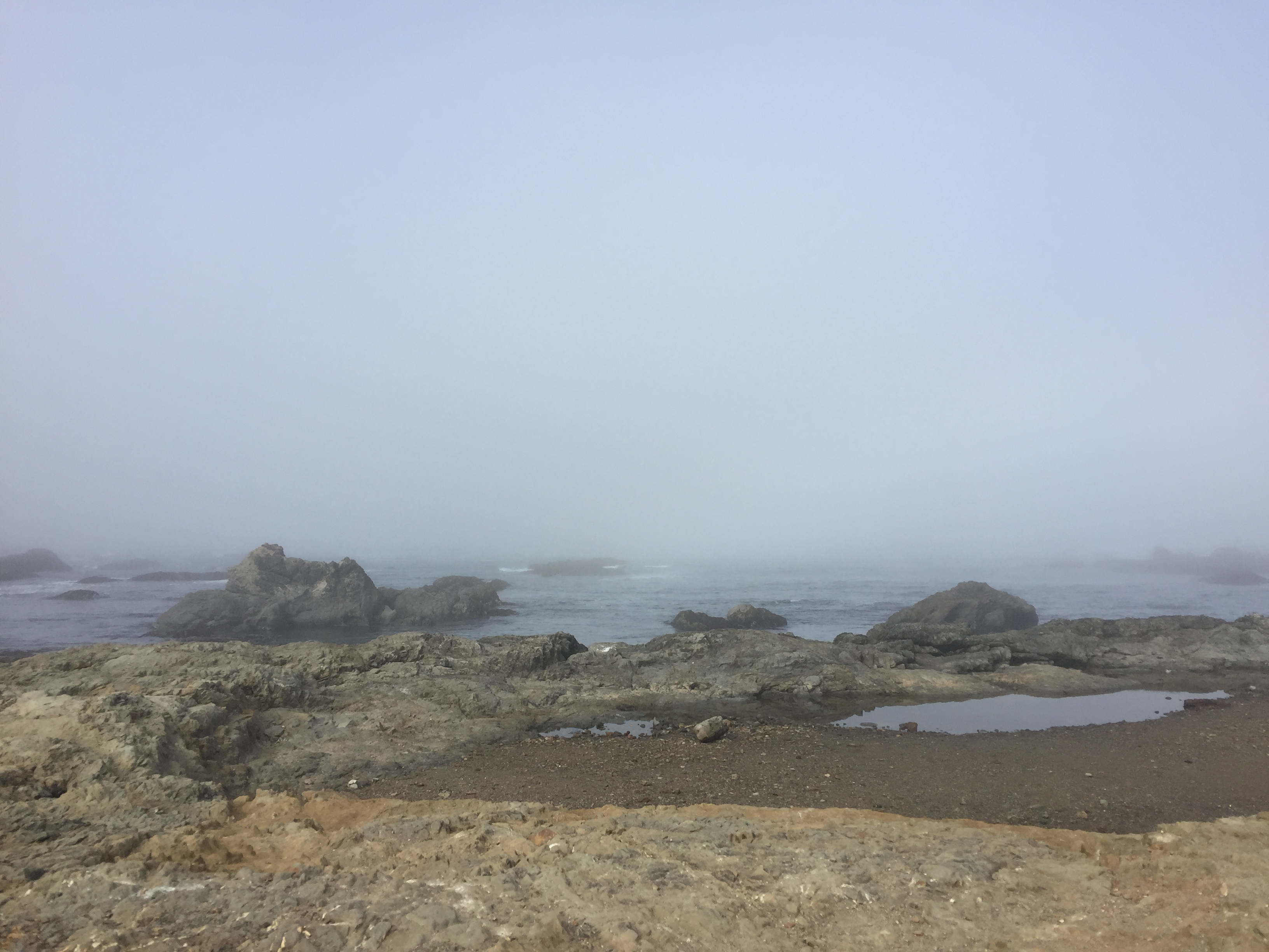 misty glass beach